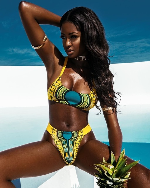 1249fa61a4 African Swimwear Women 2017 Boho Swimsuit Push Up Bikini Set Bathing Suits  Brazilian Bikinis Women Swimwear