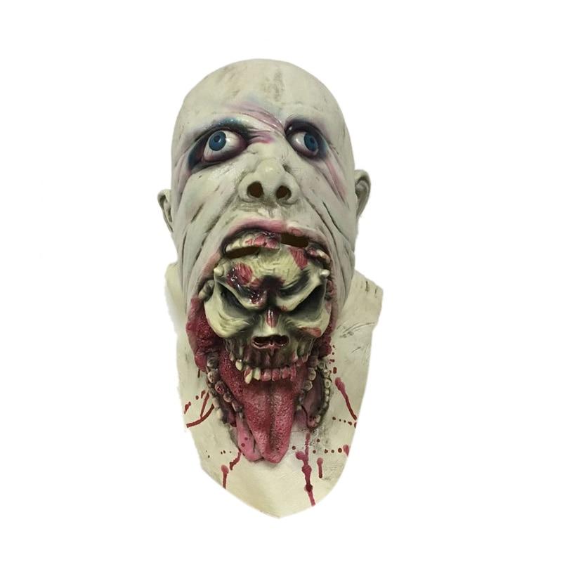 Horrible Latex Rotting Zombie Mask Scary Horror Face