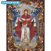 Diamond Embroidery Icons Religious Virgin Mary 5D Diy Diamond Painting Picture Of Rhinestones Diamant Schilderen Beaded