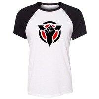 Funny Killzone Black Hand Graphic Tee Shirt For Lady Girl Loose Raglan Short Sleeve T Shirt