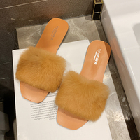 Fluffy Slippers Women Furry Slippers Ladies Women Shoes 2019 Summer Spring Fashion Cute Slippers Soft Flats Slippers Platform