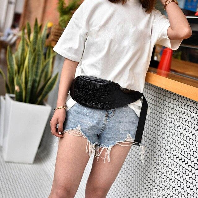 Для женщин Мода крокодил узор кожаная сумка Messenger груди женский небольшая сумка Handy Фанни Многофункциональный