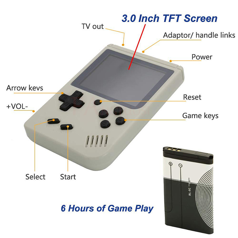 FANGTUOSI Video Game Console 8 Bit Retro Mini Pocket Handheld Game Player Built-in 168 Classic Games for Child Nostalgic Player 2
