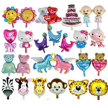 Mini cartoon Foil Balloons air balloon inflatable classic toys bunch balloons wedding party supplies happy birthday balloons(China)