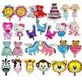 Mini de dibujos animados Globos de Papel globo de aire inflables juguetes clásicos montón fuentes del partido del feliz cumpleaños de la boda globos globos