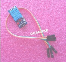 Free Shipping 20pcs DHT11 Temperature and Relative Humidity Sensor Module With Cable for Arduino
