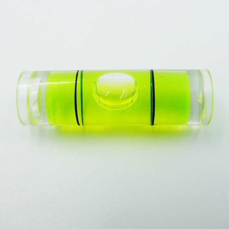 قطر 9.5 ملليمتر طول 31 ملليمتر الاكريليك أنبوب فقاعة مستوى الروح المستوى فيال قياس أداة 1
