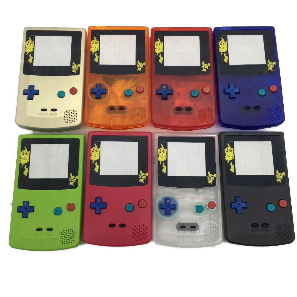 Game boy color online free - For Game Boy Color Gameboy Gbc Case Housing W Screen Colorful Buttons For Gbc Pikachu Limited Edition Shell