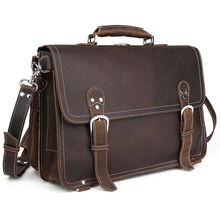 TIDING Real Leather Backpack Vintage Shoulder Bag Laptop Men Cross Body Bag 10597
