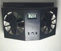 12V Solar Air Radiator Without Battery Vent Rubber Window Auto Ventilator Cooler Sun Power Car Ventilation