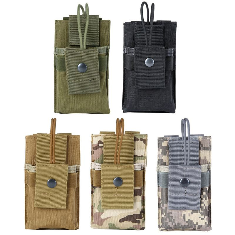 1000D Tactical Radio Pouch Walkie Holster Talkie Holder Waist Belt Bag Molle Radio Pouch Storage bag in Armbands from Cellphones Telecommunications