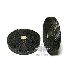 Image 5 - 15 m/50 pies x 1 pulgada tubo de escape negro envoltura de escape Turbo colector de calor cabezal envoltura de escape tubo de envoltura de escape envoltura de calor escudo de calor