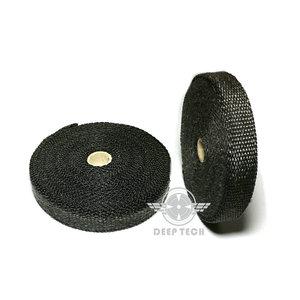 Image 5 - 15m/50ft x 1 Inch Black  Exhaust Wrap Exhaust Turbo Heat Manifold Header Wrap Exhaust Pipe Wrap Exhaust Heat Wrap Heat Shield