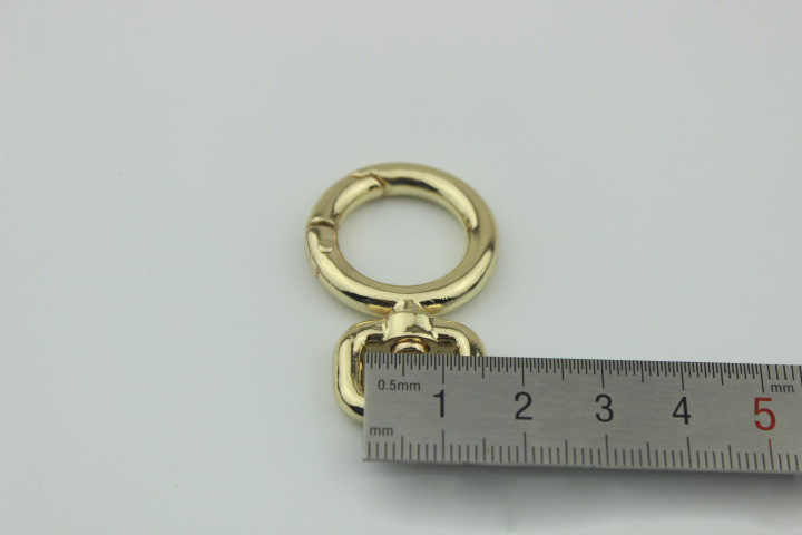 07ada094a015 ... BDTHOOO 10PCS Metal Swivel Snap Hook Clasp DIY Bag Fastener Hook 1.2cm  Open Coil Connection