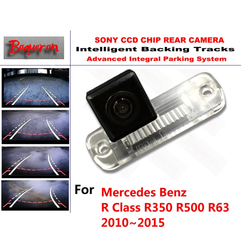 for Mercedes Benz R Class R350 R500 R63 10~15 CCD Car Backup Parking Camera Intelligent Tracks Dynamic Guidance Rear View Camera