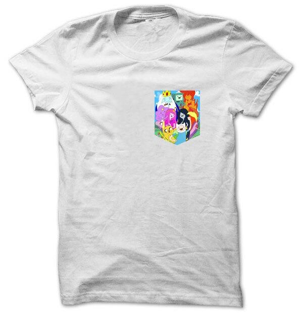 2d9cd52bf966 Adventure Time, Finn The Human, Jake The Dog Print Pocket T-shirt Hipster
