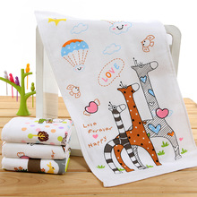 25x50cm cartoon gauze cotton child towel Hand Towel wholesale Home Cleaning Face for baby Kids High Quality Bath Set