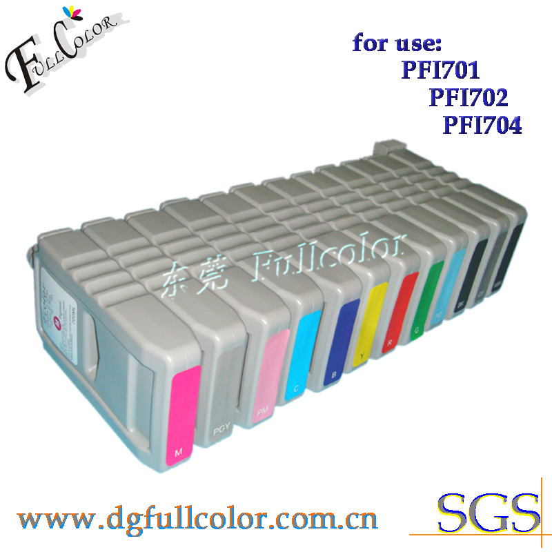 ФОТО Free shipping compatible PFI-701  ink cartridge for canon IPF8110 12 colors a set with prefessional pigment ink