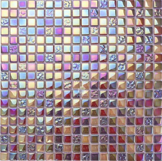 Irisé couleur décoratifs pour la maison cristal mosaïque de verre ...