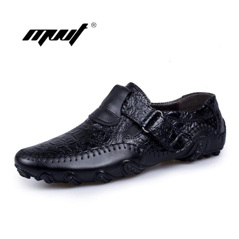 Handmade Genuine Leather Casual shoes Men's Flats Luxury Brand Men Loafers Comfortable Soft Driving Shoes Slip On Moccasins branded men s penny loafes casual men s full grain leather emboss crocodile boat shoes slip on breathable moccasin driving shoes