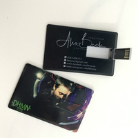 100pic/lot DIY Logo Brand Promotion USB Card Flash Drive 4G/8G Pen Drive Customized Colorful Printing Logo Wedding Gift