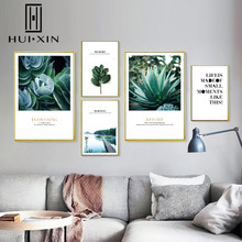 Nordic Tropical Plants Landscape Scenery Dark Green Leaves Canvas Painting Posters And Prints For Living Room Wall Poster Decor modern inspirational nordic flowers plants combination canvas painting zebra poster and prints living room decorative painting