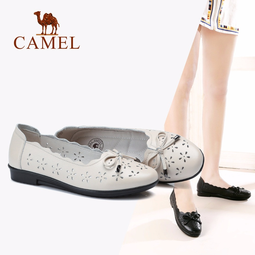CAMEL Woman Causual Shallow Ladies Pumps Shoes Fashion Roma Style Ladies Shoes Genuine Leather Antiskid Soft Slip On Shoes camel shoes ladies sweet bow sheepskin shoes elegant ladies increased within shoes soft surface a93194626