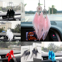 Mini Dream Catcher Car Pendant Wind Chimes Feather Decoration Home Decor & Wall Hanging Adornment Handmade Dreamcatcher Gifts