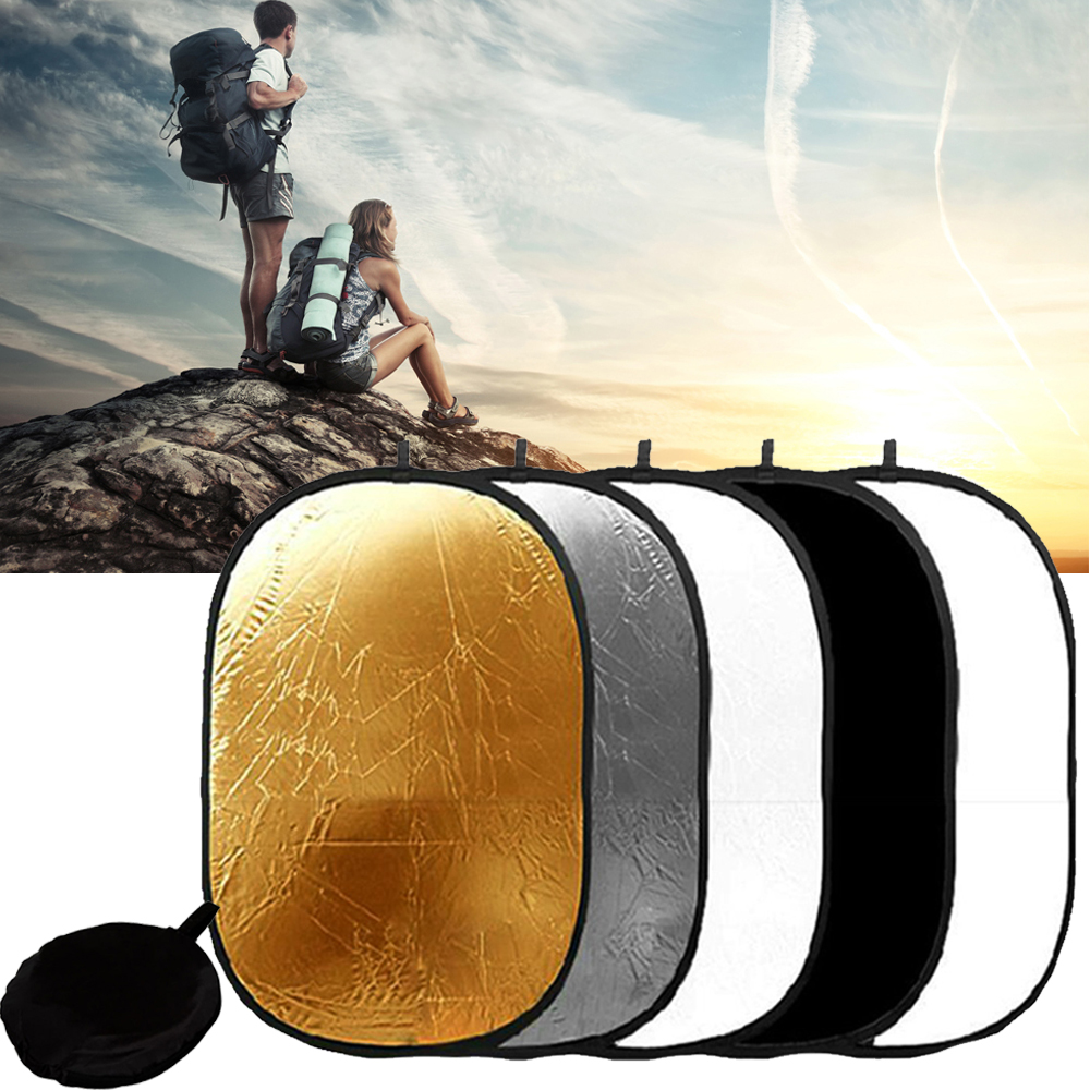 5 in 1 Portable Light Collapsible Reflector 100x150cm /40