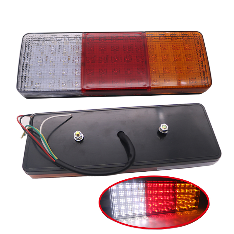 1pair 12V/24V 75 LED Car Truck Tail Light Warning Lights Rear Lamps Waterproof Tailights Rear Parts Trailer Truck Light image