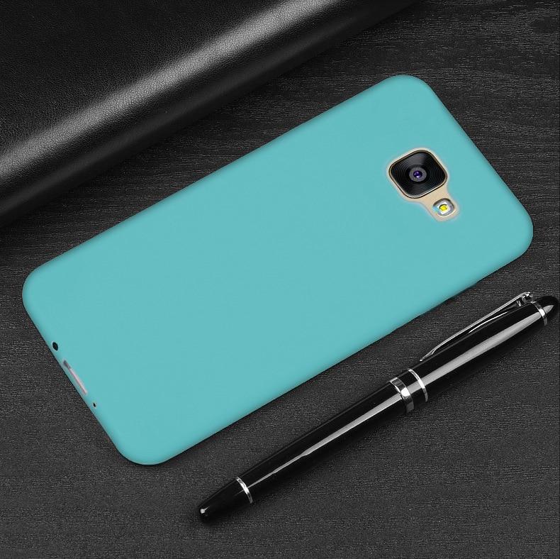 Saco Do Telefone cor Para Samsung J5 J7 J3 J2 Prime j2 j3 PRO 2018 j3 j5 j7 2018 A3 A5 a7 2016 A3 A5 A7 2017 Capa de Silicone Macio Cobre