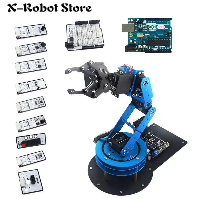DIY 6DOF Robotic arm Mechnical Secondary Development Robot Arm with Servo and Controller for DIY Unassembled