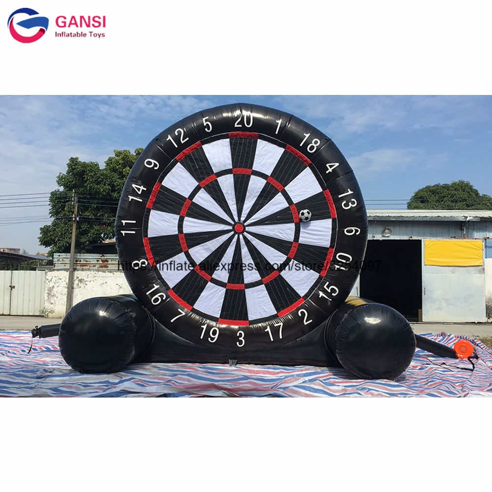 Giant 3.6m carnival game inflatable soccer foot darts, 0.55mm PVC inflatable dart board game for saleGiant 3.6m carnival game inflatable soccer foot darts, 0.55mm PVC inflatable dart board game for sale