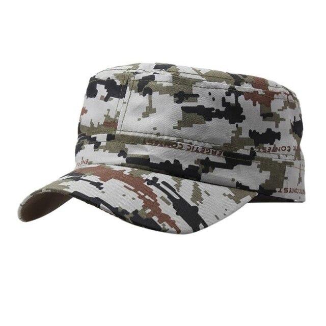 d3e98ebc36f Outdoor Camo Tactical Plain Vintage Army Military Cadet Style Cap Hat  Adjustable army cap 2018 military cap chapeau homme ete