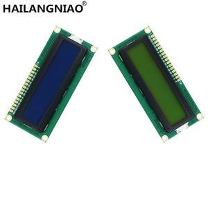 Image 1 - 10PCS LCD1602 1602 Modulo LCD Blu/Giallo Schermo Verde 16x2 Carattere Display LCD PCF8574T PCF8574 IIC i2C Interfaccia 5V