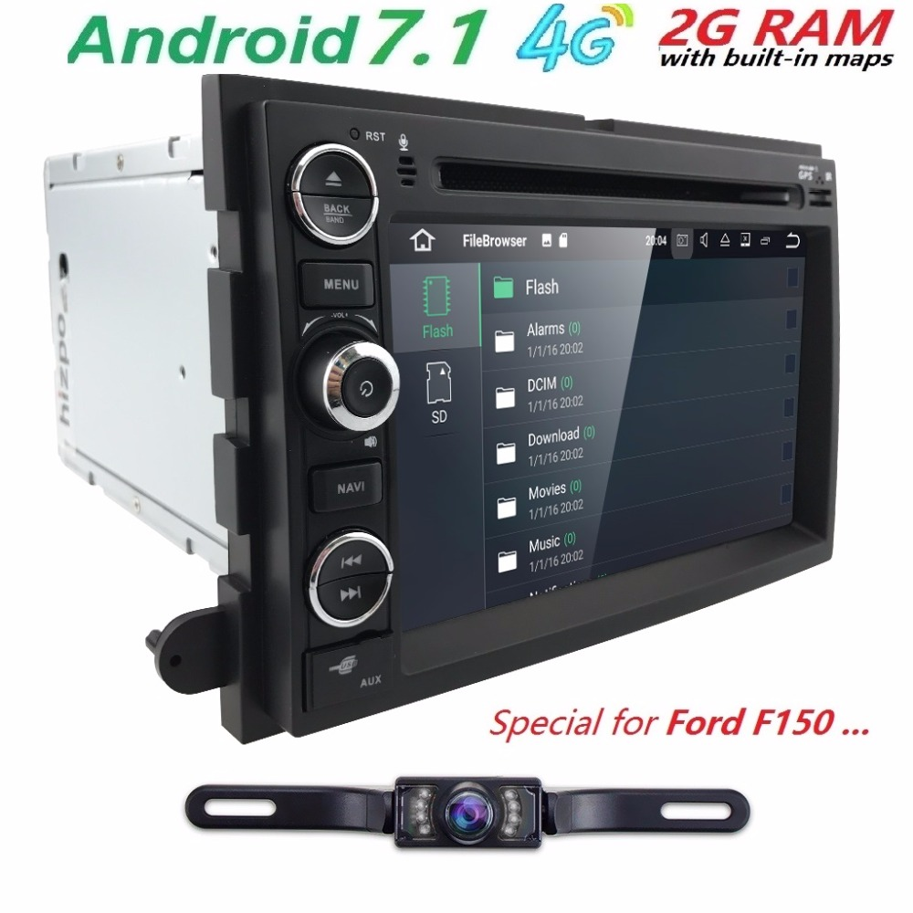 1024X600 Quad Core Android 7 1 font b Car b font DVD For Ford Fusion Explorer