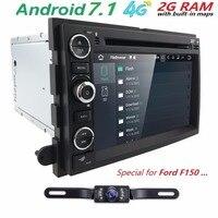 1024X600 Quad Core Android 7.1 jogador Do Carro DVD Para Ford Fusion Explorer 500 Borda Expedition Mustang F150 F250 F350 GPS Rádio navegação