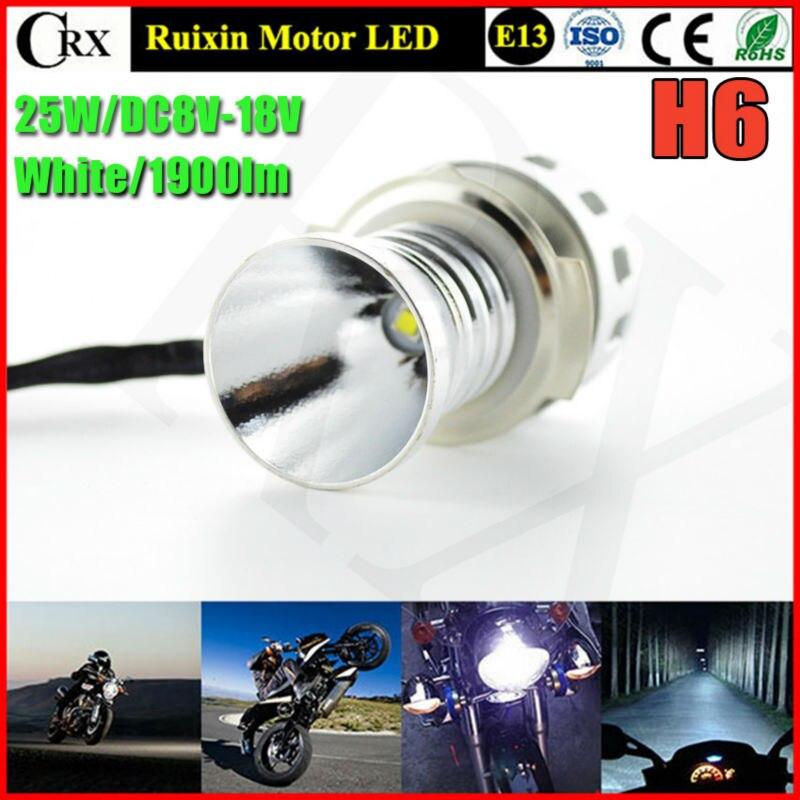 1set 25W 1900lm T6 XBD H6 LED Bulb Bike Motorcycle Headlight Conversion Kit DC8V-18V With Strobe Flashlight