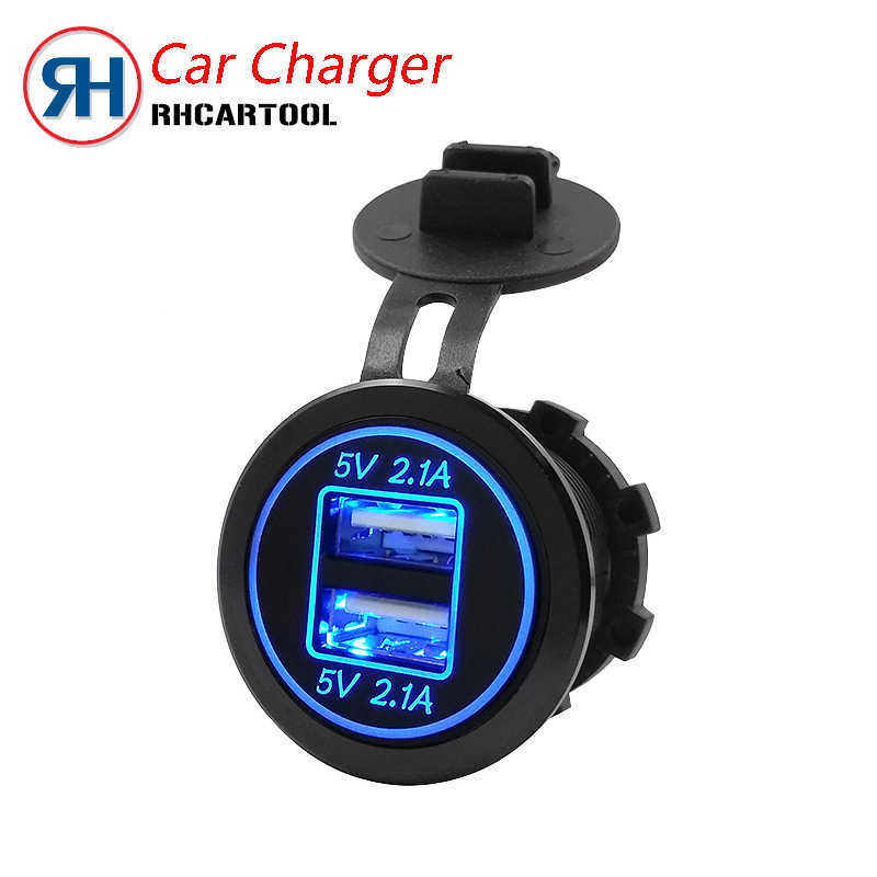 Hot Sell Car Moto Charger USB 12/24V Black Waterproof Auto Car Cigarette Lighter Socket For Mobile Motorcycle Free Shipping