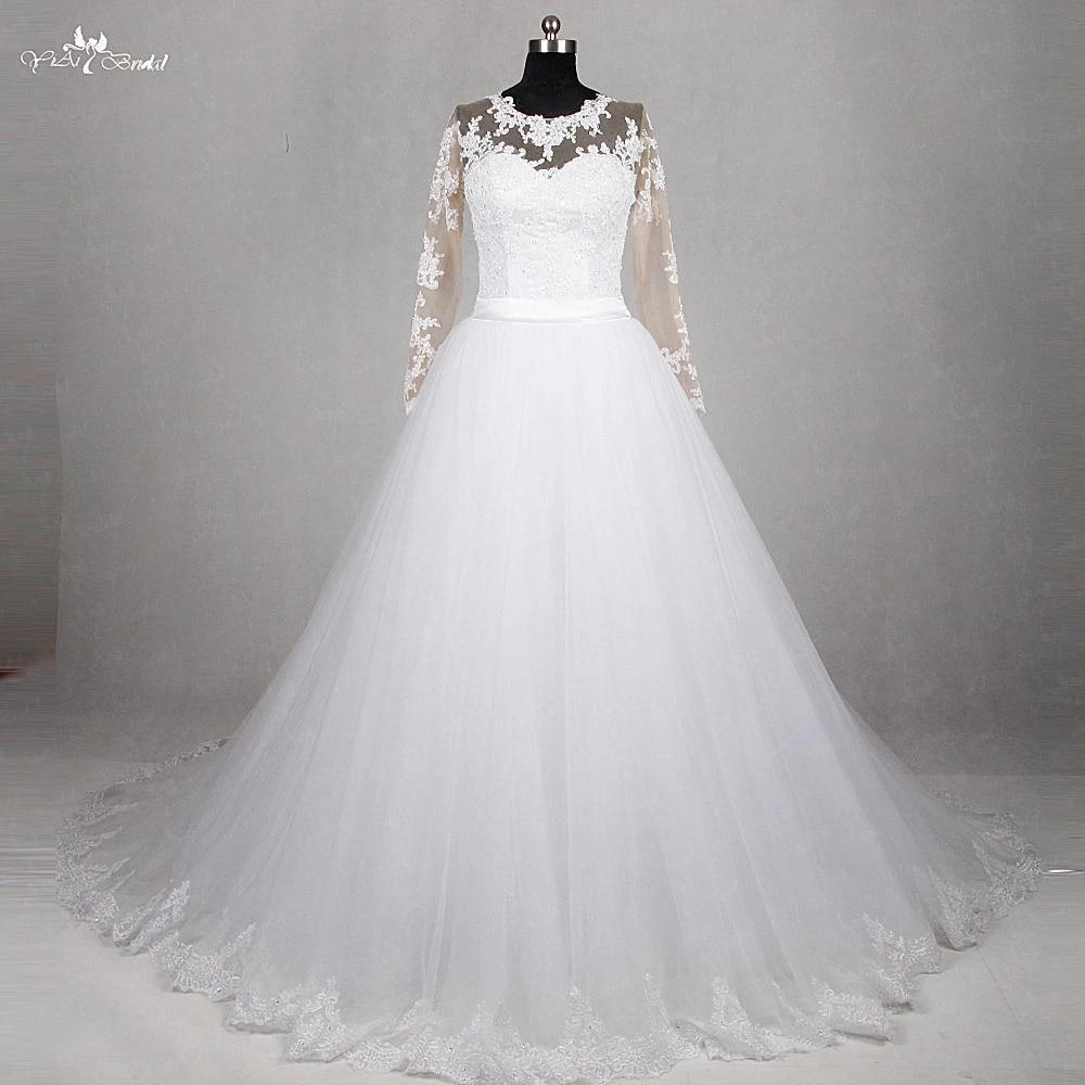 Rsw1187 Yiaibridal Real Job Long Sleeve Detachable Skirt Robe Ceremonie Femme Mariage Vestido De Noiva 2 Em 1 Noiva 2 Em 1 Vestido De Noivade Noiva Aliexpress