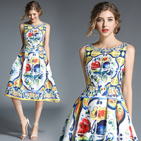 2019 Summer women Jacquard dress Pretty office dress vestidos