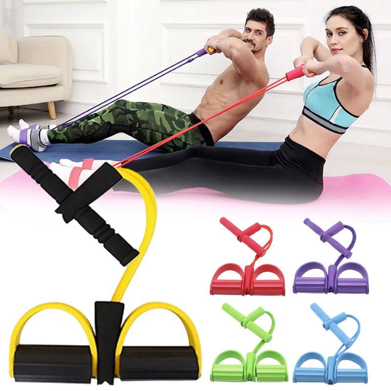 Body Tummy Fitness Elastic Sit Up Pull Rope Abdominal Exerciser  Bands Fitness Home Professional Sport Equipment Workout Gym