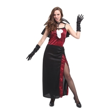 Adult Noble Sexy Vampiress Cosplay Vampire Costume for Women Fantasia Halloween Carnival Mardi Gras Party Dress