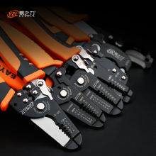 7 Wire Stripping Pliers Practical Brand Multi-function Wire Crimping Tool high-carbon Steel Electric Tool free shipping multi function 5 in 1 electric needle nose pliers wire stripping cutting wire crimping pliers tools