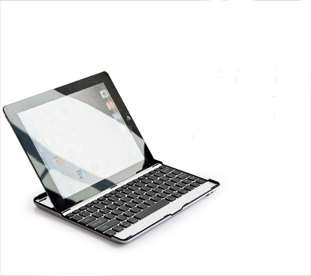 9cec2e94798 Aluminum Wireless Bluetooth Keyboard Metal Case Cover For Apple iPad 2 3 4  A1395 A1396 A1416