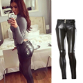 Newest women freddy pantsautumn winter fleece thick sexy tights trousers Europe and America womens leather pants pantalon femme