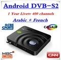 AZ-Yst 1 Año LiveTV Francés Iptv 400 Canales Canal + Android TV Box Receptor de Satélite Decodificador Android DVB-S2 DVB S2 Caja