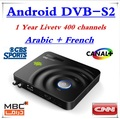 AZ-Yst 1 Year LiveTV French Iptv 400 Channels Canal+ Android TV Box Satellite Receiver Decoder Android  DVB-S2 DVB S2 Box