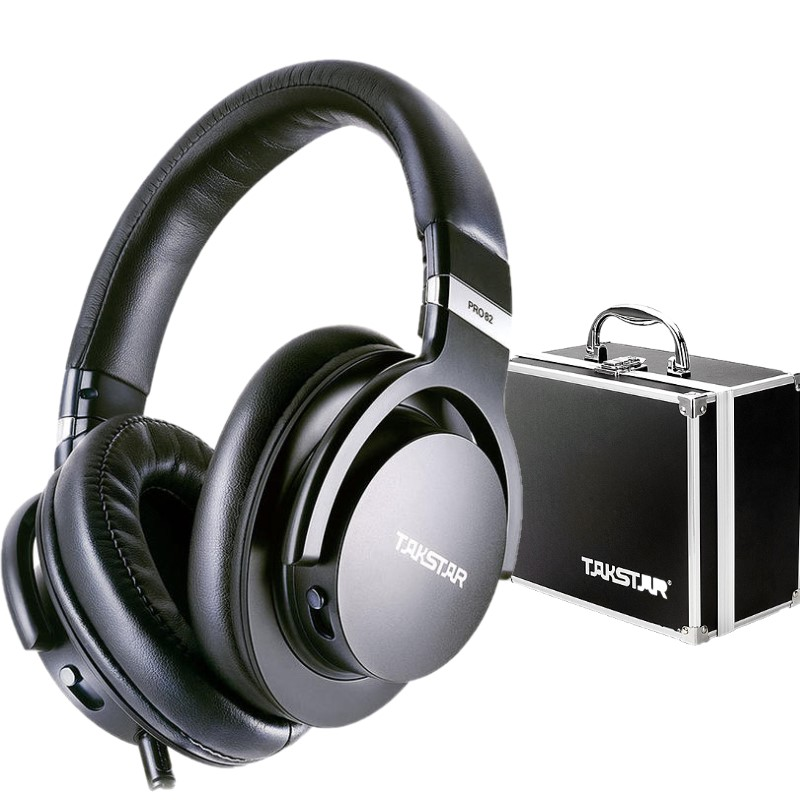In stock Genuine Takstar PRO82 PRP 82 Stereo Dynamic Hifi Headphone Adjustable Bass DJ Headset Studio