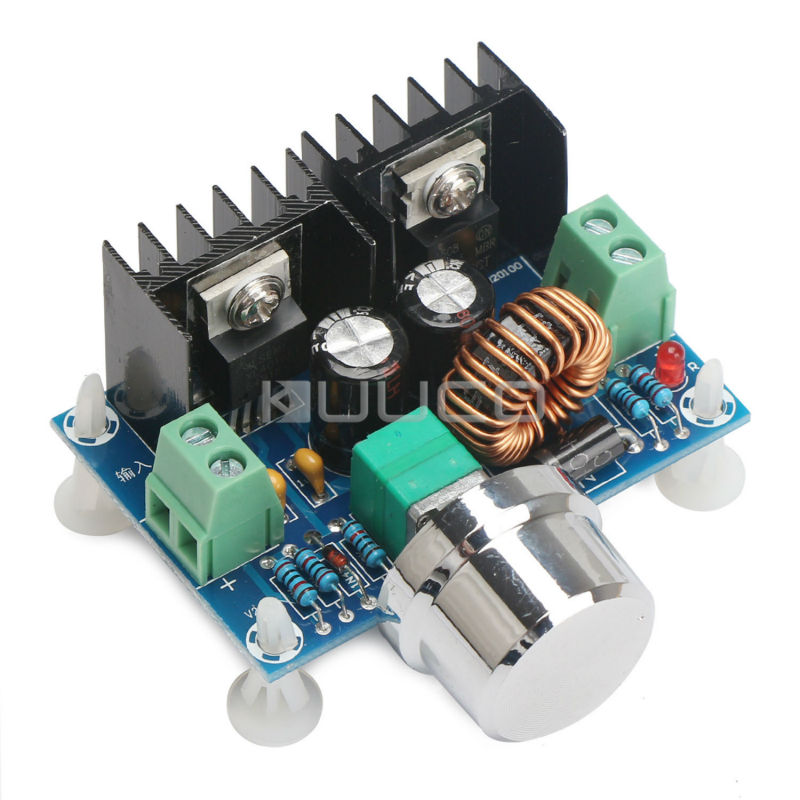 DC-DC Step-Down Power Supply Module DC 4~40V to 1.25~36V 8A 200W High Power Voltage Regulator/PWM Speed Controller/Driver Module 4 1 wide voltage input dc dc converter48v to 12v 1 66a dc dc step down power module supply free shipping
